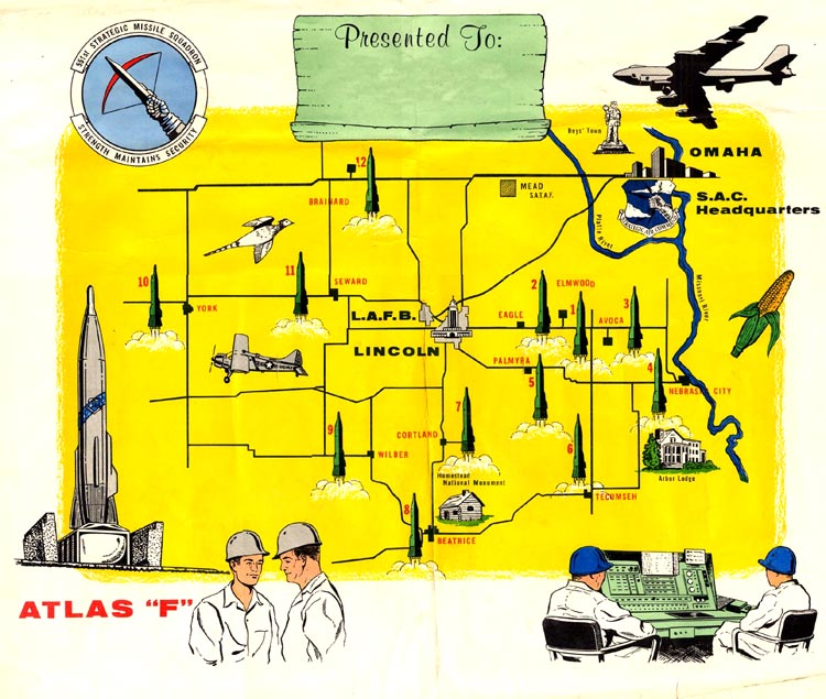 Lincoln Air Force Base Online Museum - Map of us missile silos