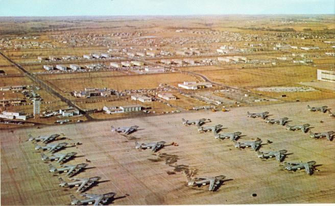 look at the Lincoln flightline about 1963, note base operations on ...